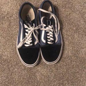 Blue and Black Vans Shoes